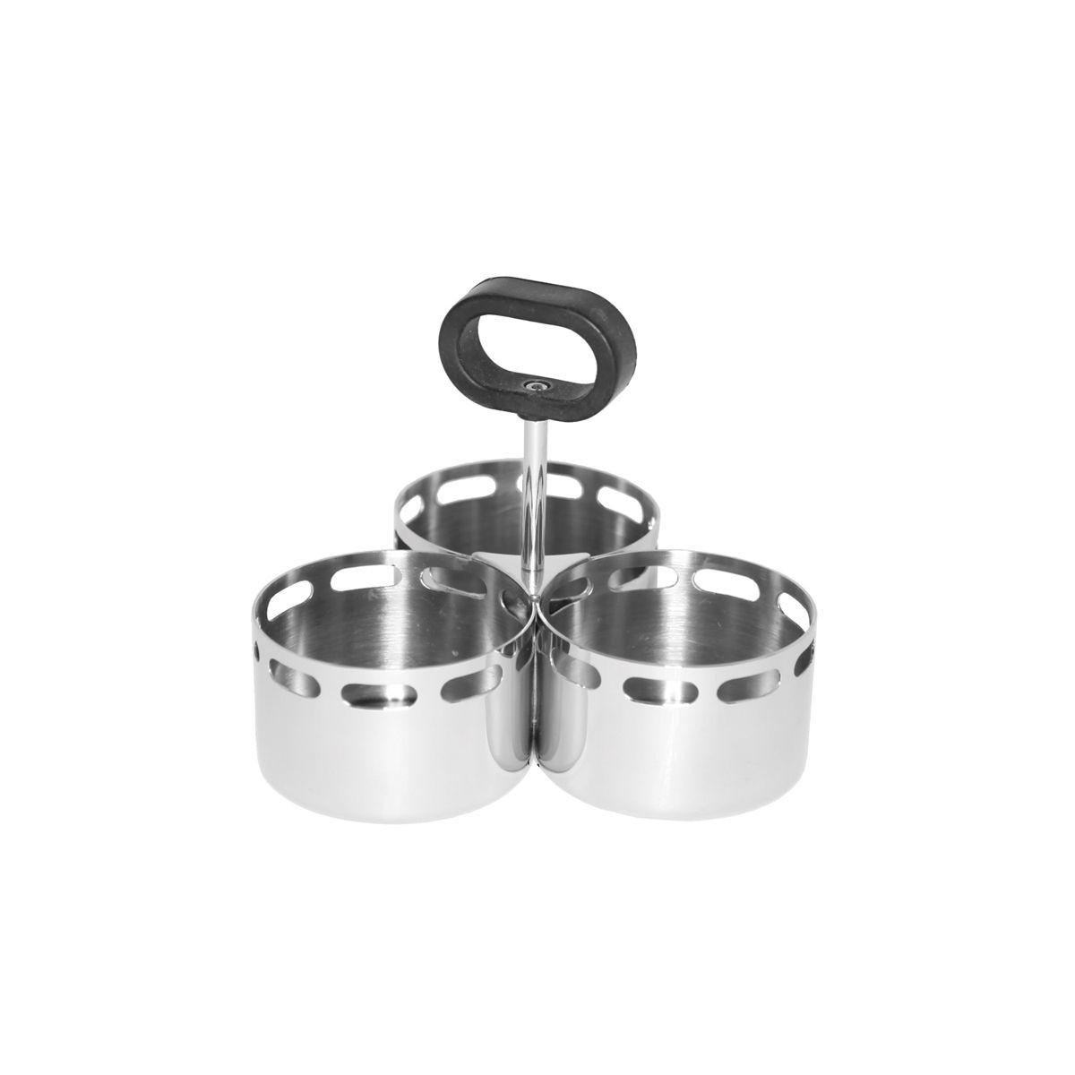 Service Ideas SM-72 SteelForme Snack Caddy with 3-Compartments