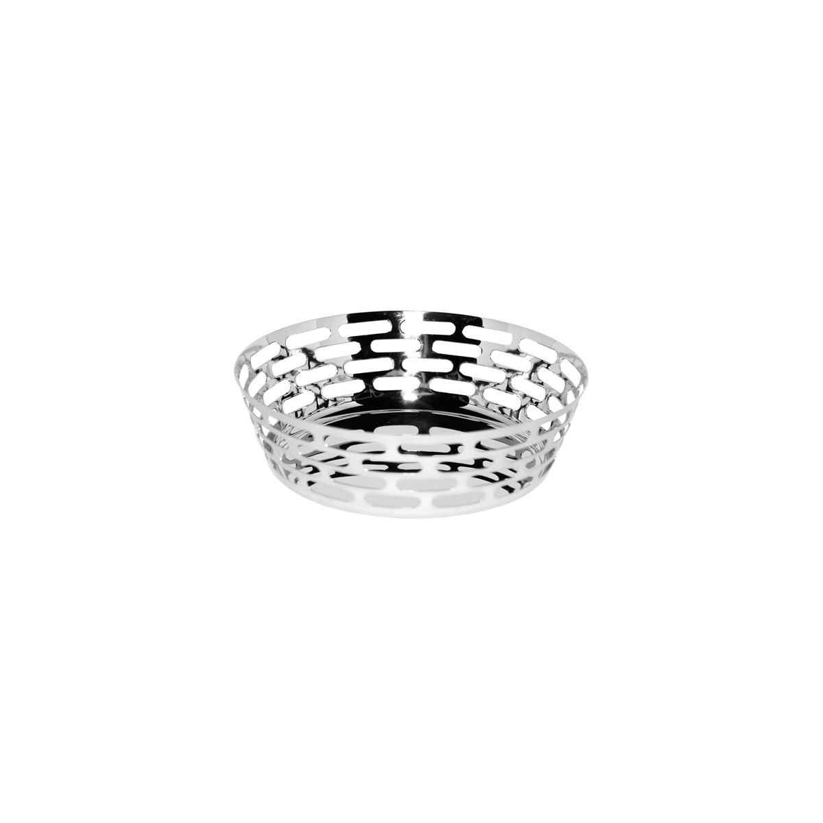 Service Ideas SM-75 Small Stainless Steel Bread Basket