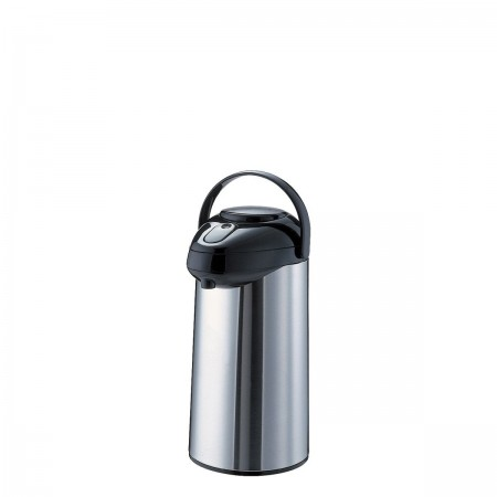 Service Ideas SSA250 SteelVac Premium Stainless-Lined Airpot with Pump Lid, 2.5 Liter