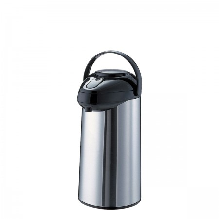 Service Ideas SSA300 SteelVac Premium Stainless-Lined Airpot with Pump Lid, 3 Liter