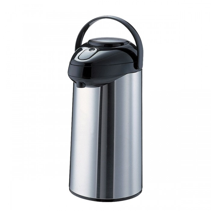 Service Ideas SSA375 Stainless with Black Finish Airpot, 3.75 Liter