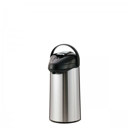 Service Ideas SSAL250 SteelVac Premium Stainless-Lined Airpot with Lever Lid, 2.5 Liter
