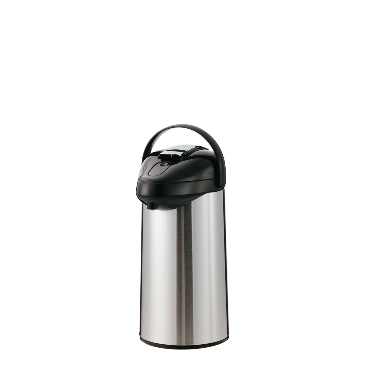 Service Ideas SSAL250 Stainless and Black Airpot with Interchangeable Lever Lids, 2.5 Liter