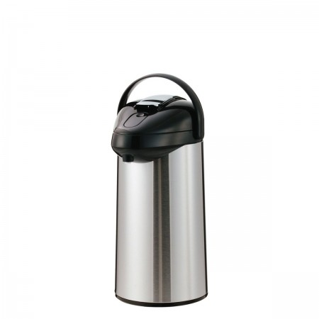 Service Ideas SSAL300 SteelVac Premium Stainless-Lined Airpot with Lever Lid, 3 Liter