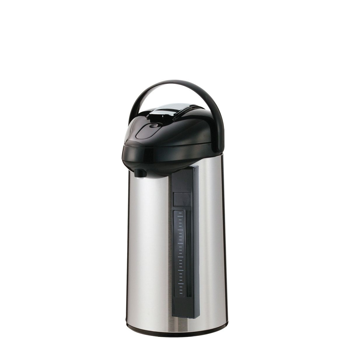 Service Ideas SSAL300SG Steelvac Airpot with Interchangeable Lever Lid, 3 Liter