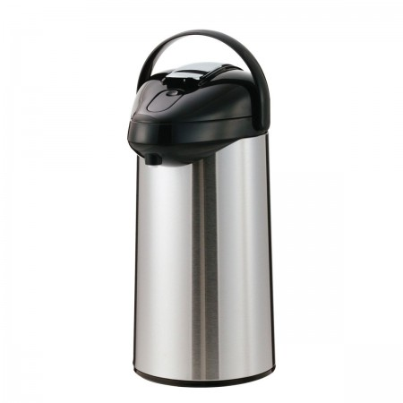 Service Ideas SSAL375 SteelVac Premium Stainless-Lined Airpot with Lever Lid, 3.7 Liter
