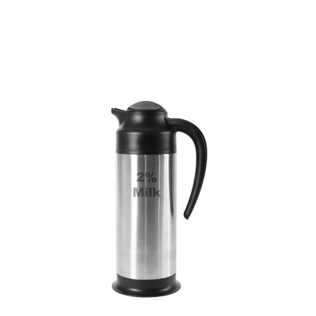 "Service Ideas SSN1002PCTET SteelVac Stainless Footed Vacuum Creamer, ""2% Milk"" 1 Liter"