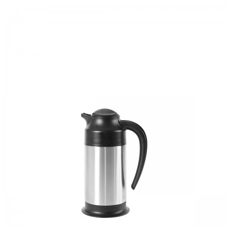 Service Ideas SSN70 SteelVac Stainless Footed Vacuum Creamer 0.7 Liter