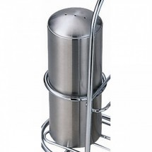 Service Ideas STC3 Stainless Steel 3-Hole Condiment Shaker