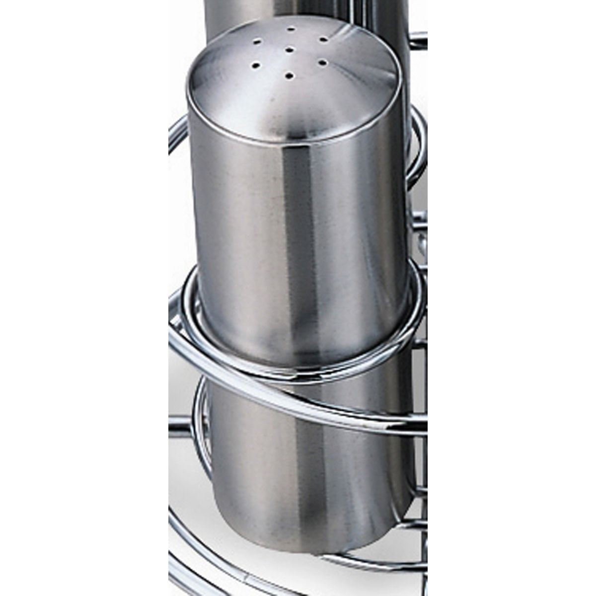 Service Ideas STC7 Stainless Steel 7-Hole Condiment Shaker