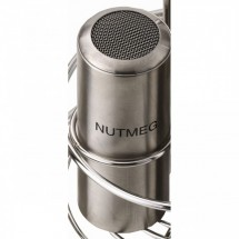 Service Ideas STCMESHNUTM Stainless Steel Condiment Shaker with Nutmeg Imprint