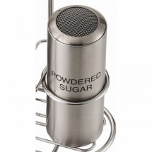 Service Ideas STCMESHPSUGR Stainless Steel Mesh Powdered Sugar Imprinted Shaker
