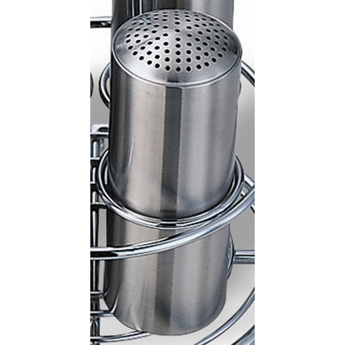 Service Ideas STCMULTI Stainless Steel Multi-Hole Condiment Shaker