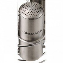 Service Ideas STCMULTICINN Stainless Steel Multi-Hole Cinnamon Shaker