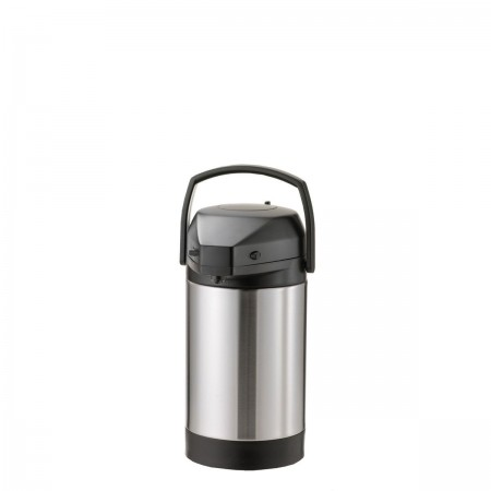Service Ideas SVAP25P Brushed Stainless Pump Lid Economy Airpot 2.5 Liter