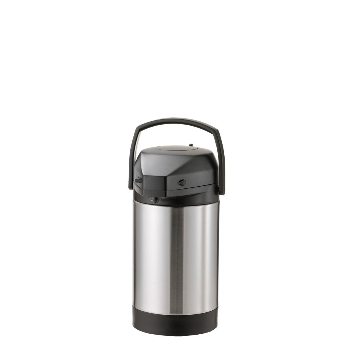 Service Ideas SVAP25P Economy Airpot with Interchangeable Pump Lid, Stainless 2.5 Liter