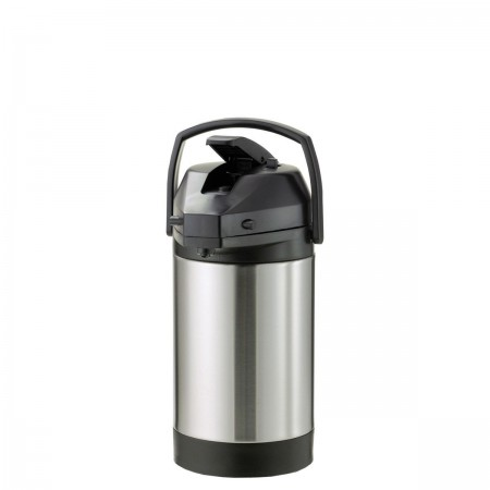 Service Ideas SVAP30L Brushed Stainless Lever Lid Economy Airpot 3 Liter