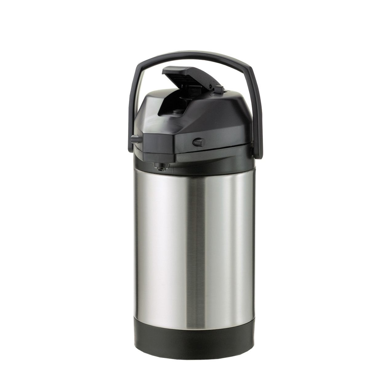 Service Ideas SVAP38CPL Brushed Stainless Airpot with Interchangeable Lever Lid, 3.8 Liter