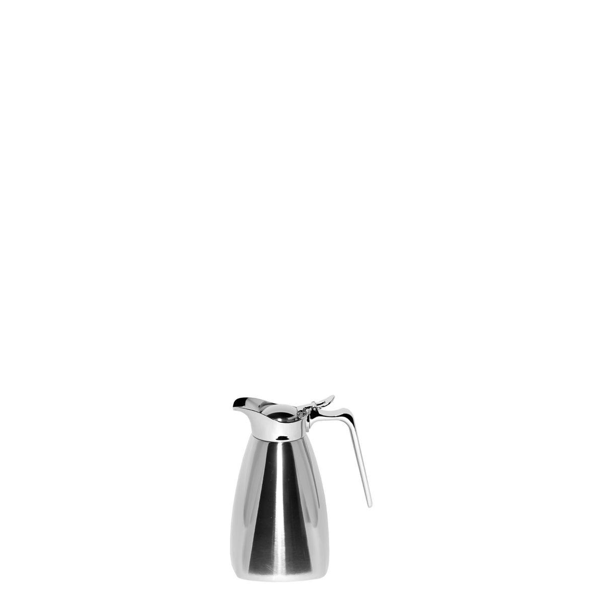 Service Ideas SVSQ04PS Polished Steel Square Carafe, 0.4 Liter