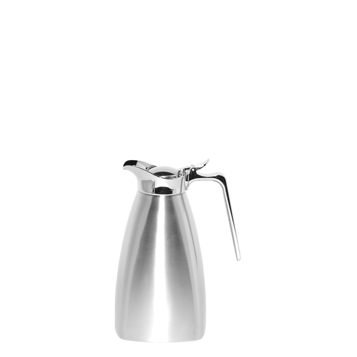 Service Ideas SVSQ07BS Brushed Steel Square Carafe, 0.7 Liter