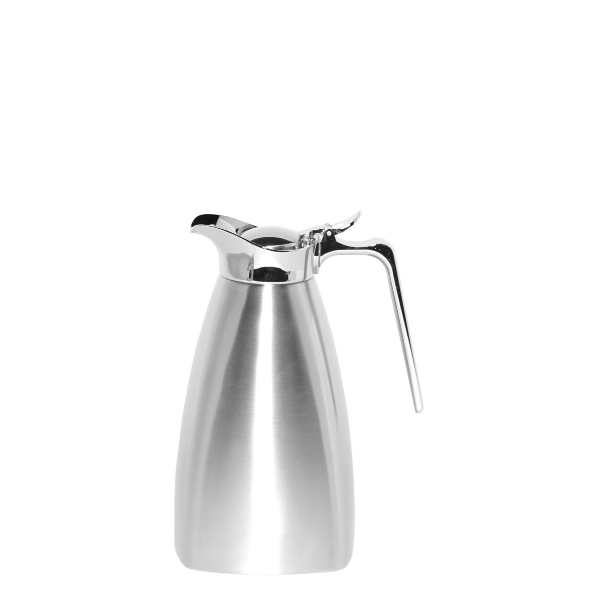 Service Ideas SVSQ10BS Brushed Steel Square Carafe, 1 Liter