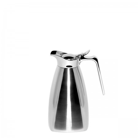 Service Ideas SVSQ10PS Polished Steel Square Carafe, 1 Liter