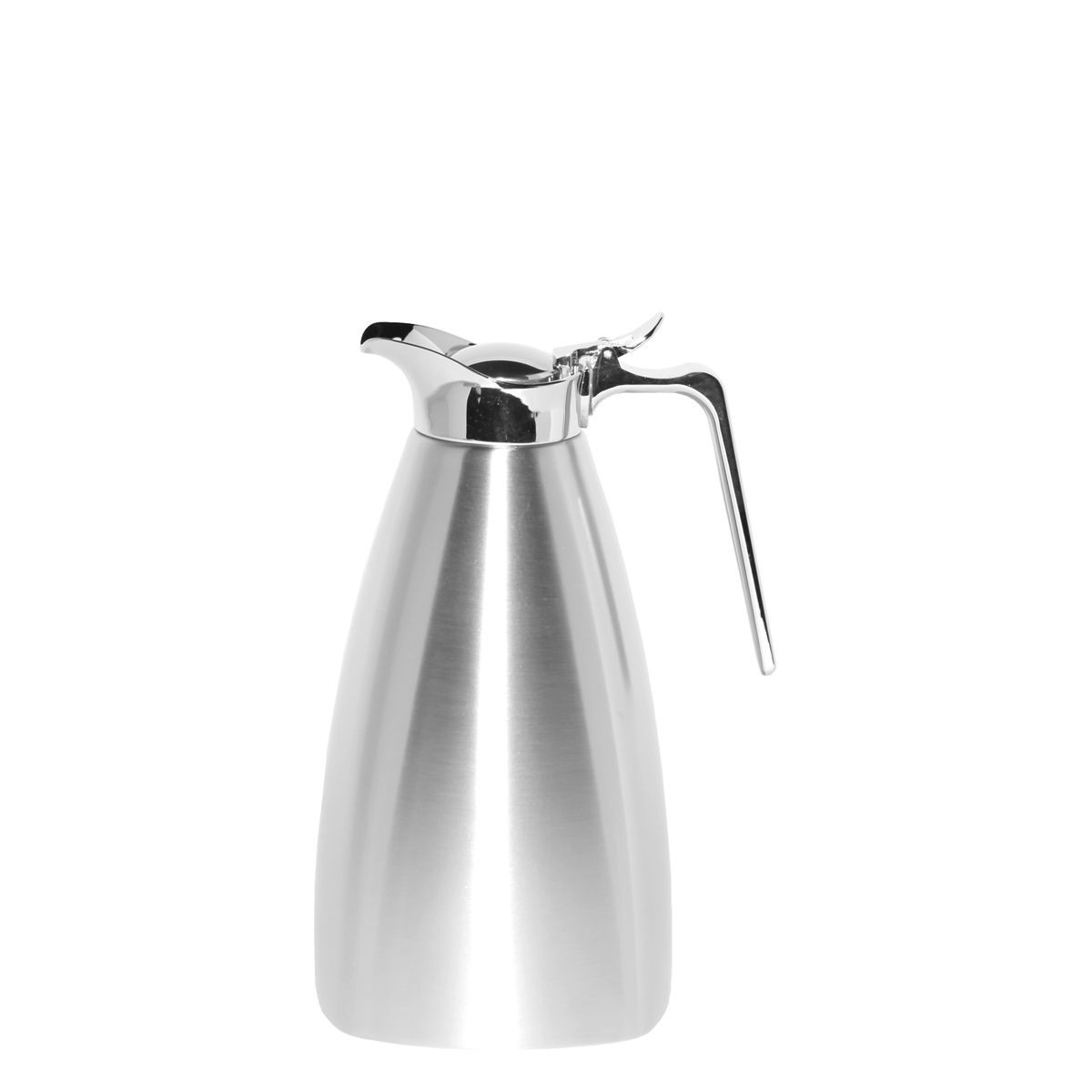 Service Ideas SVSQ15BS Brushed Steel Square Carafe, 1.5 Liter