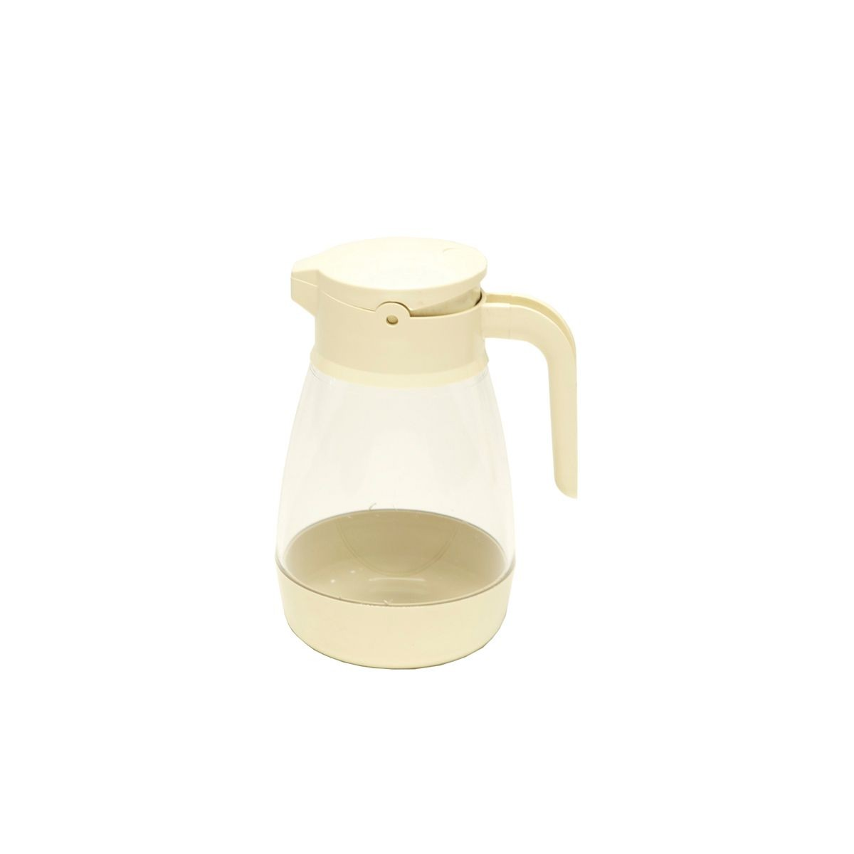 Service Ideas SY916AL Almond Dripless Syrup Dispenser with Locking Lid, 16 oz.