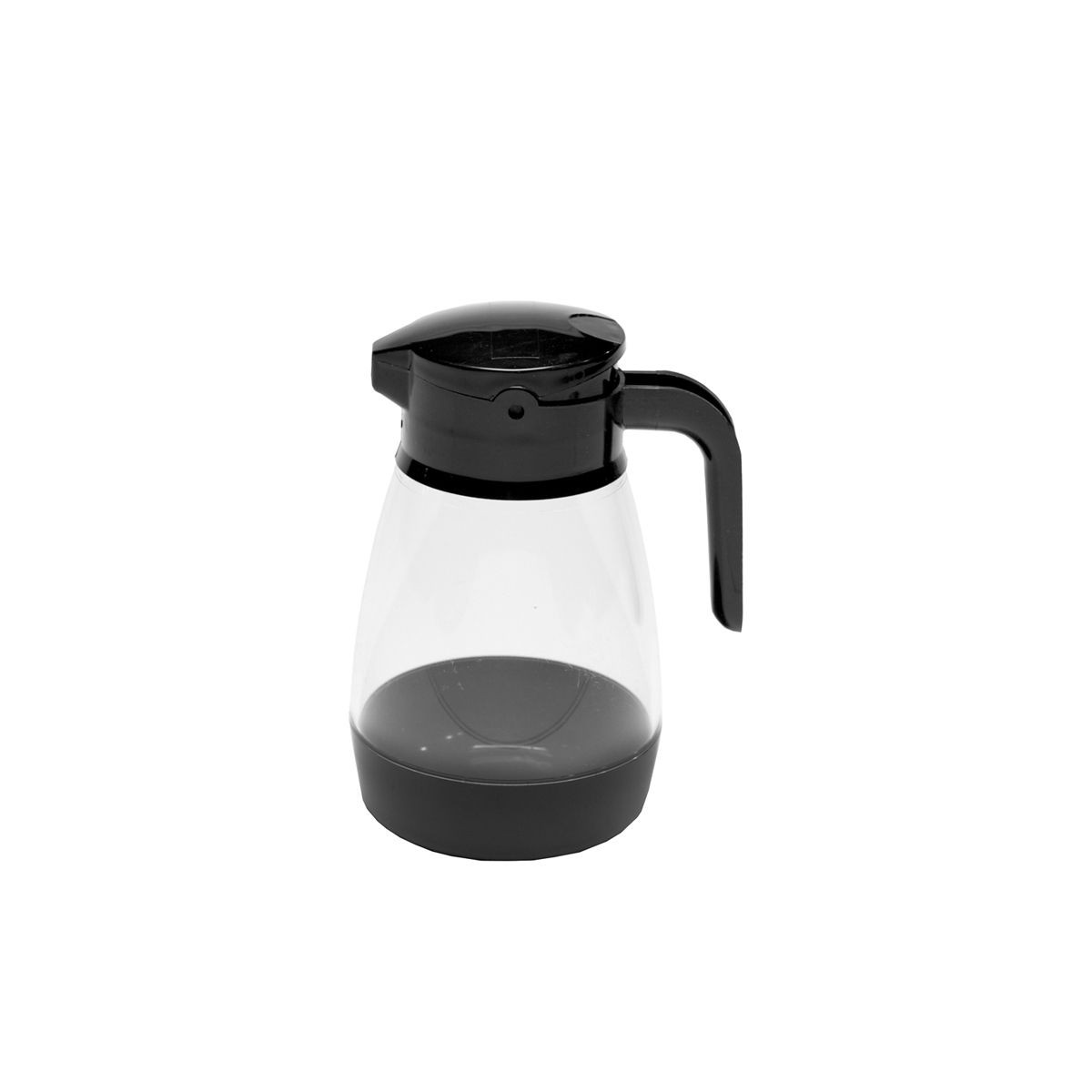 Service Ideas SY916BL Black Dripless Syrup Dispenser with Locking Lid, 16 oz.