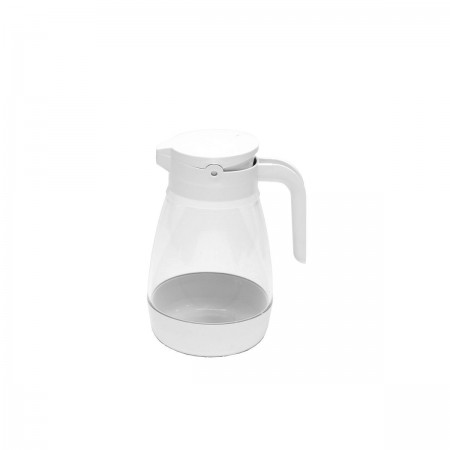 Service Ideas SY916WH Plastic Dripless Syrup Dispenser, White 16 oz.