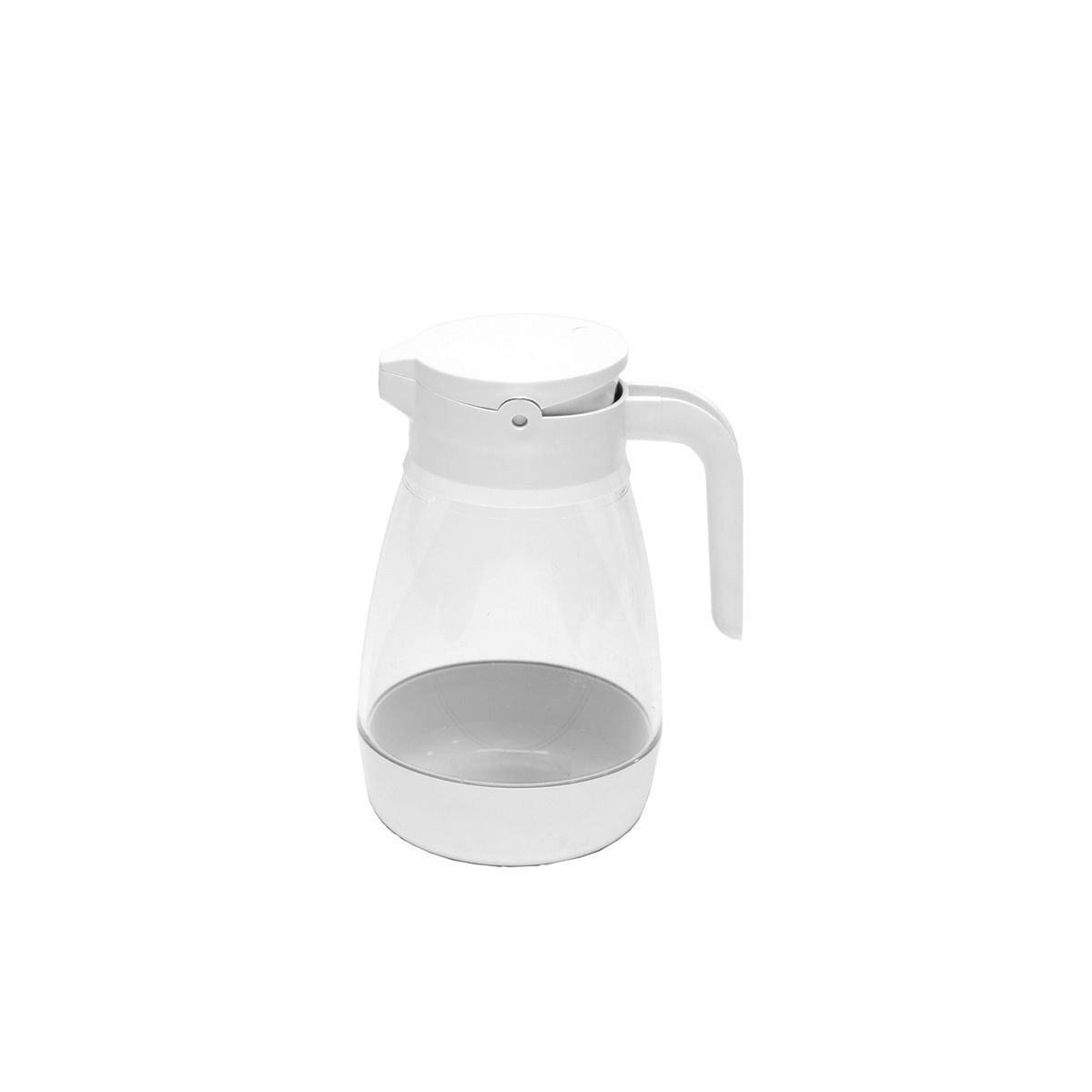 Service Ideas SY916WH White Dripless Syrup Dispenser with Locking Lid, 16 oz.