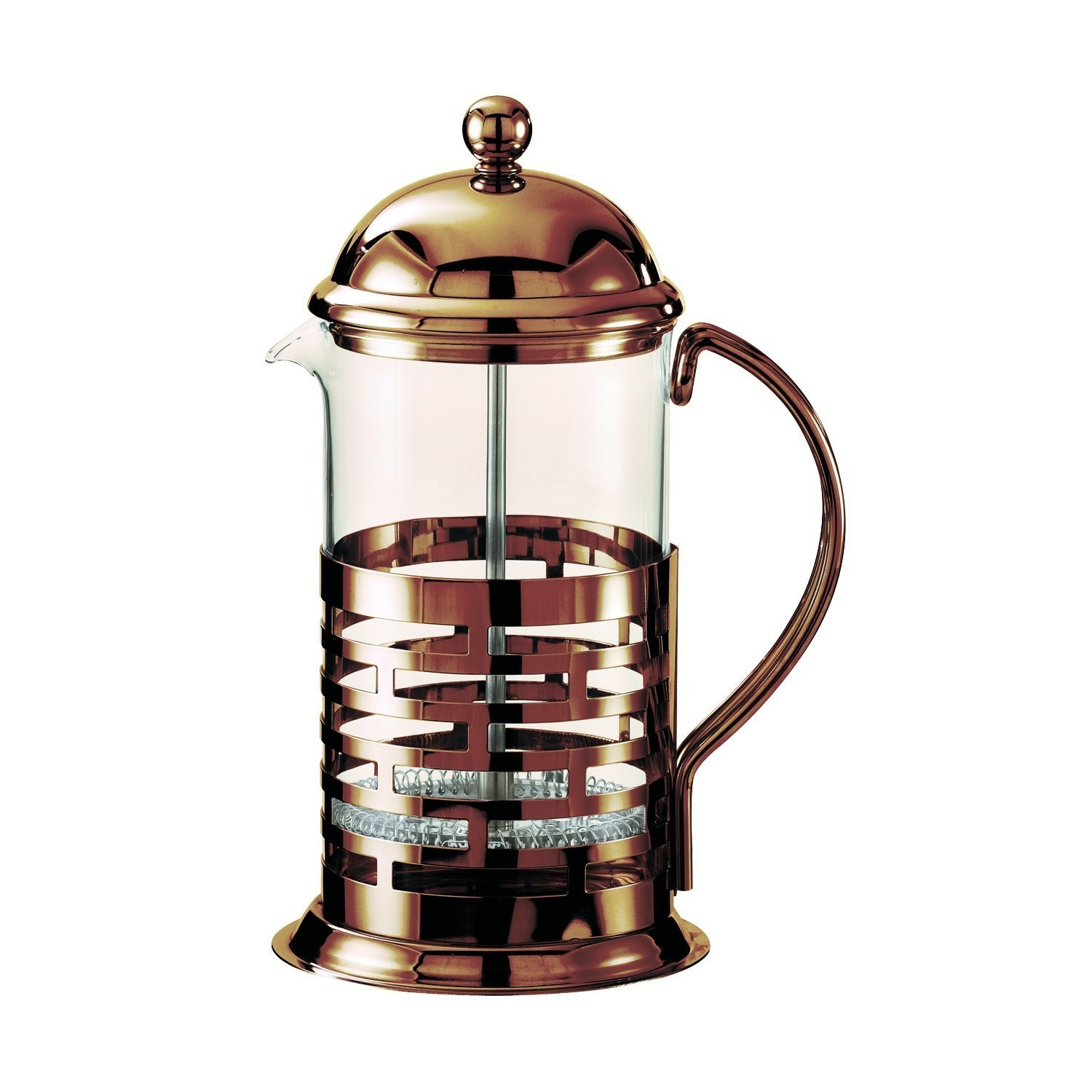 Service Ideas T277BRNZ Brick French Coffee Press, Bronze Finish 0.35 Liter