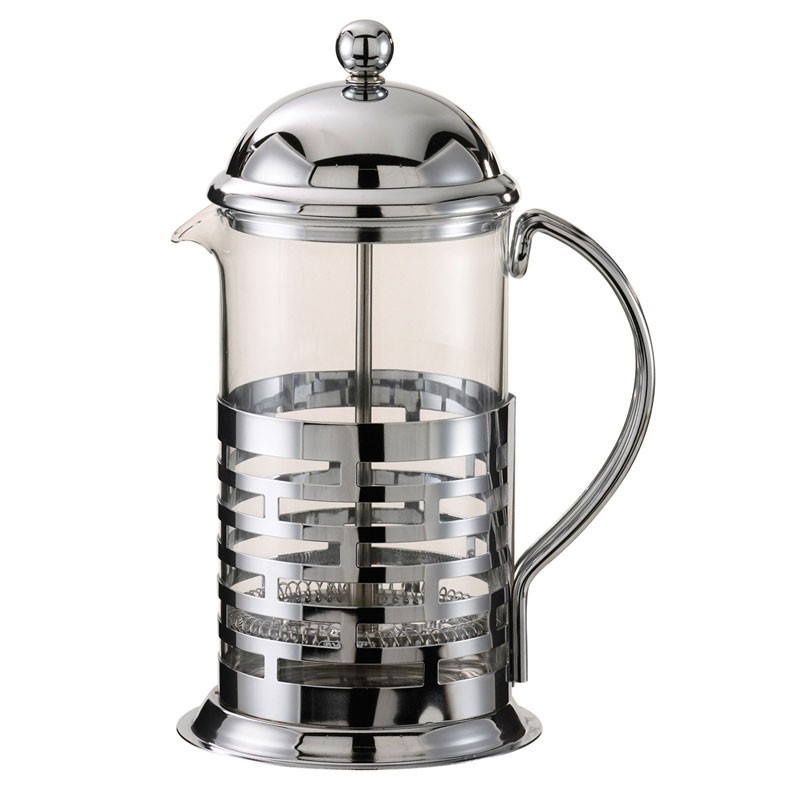 Service Ideas T477B Brick French Coffee Press, Chrome Finish 0.6 Liter