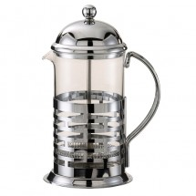 Service Ideas T677B Brick Coffee Press, Chrome Finish 0.8 Liter