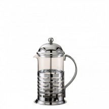 Service Ideas T877B Brick French Coffee Press, Chrome Finish 1 Liter
