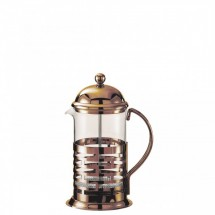 Service Ideas T877BRNZ Glass / Bronze Finish Stainless Steel Coffee Press, 1 Liter