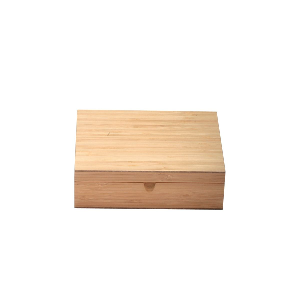 Service Ideas TBC06 Solid Bamboo Wood Tea Chest, 6 Compartments