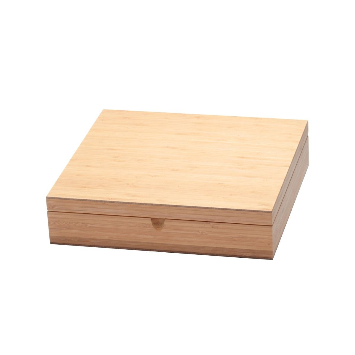 Service Ideas TBC12 Solid Bamboo Wood Tea Chest, 12 Compartments