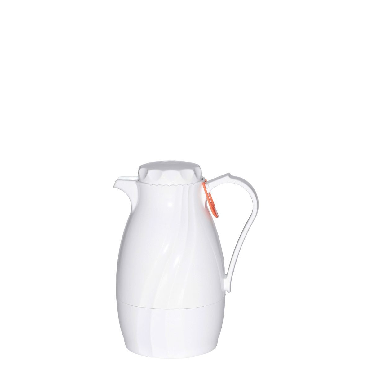 Service Ideas TNS40WH Coffee Server with Twist-On White Lid and Content Indicator, 1.2 Liter