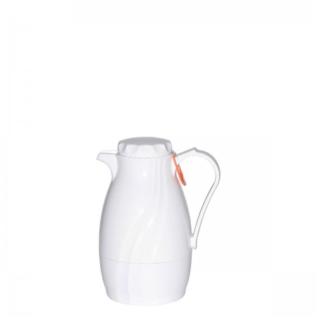 Service Ideas TNS40WH Twist N' Serve White Plastic Server, 1.2 Liter