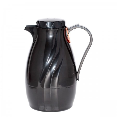 Service Ideas TNS60BL Twist N' Serve  Black Server, 2 Liter