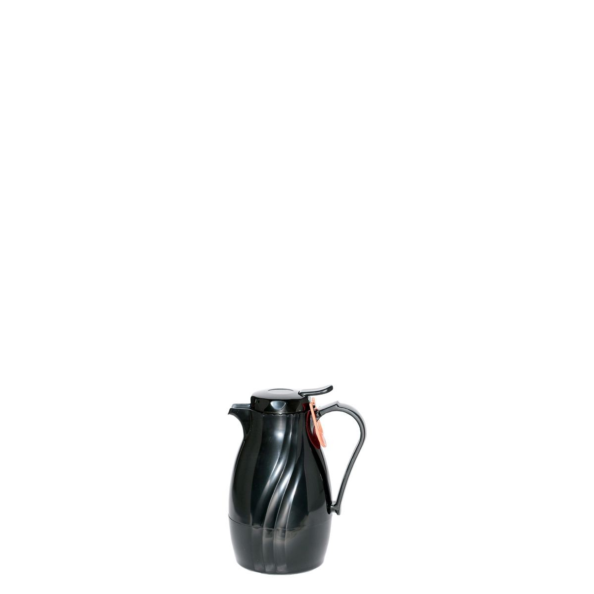 Service Ideas TNSPB20BL Twist N' Serv Push Button Server, Black 17 oz.