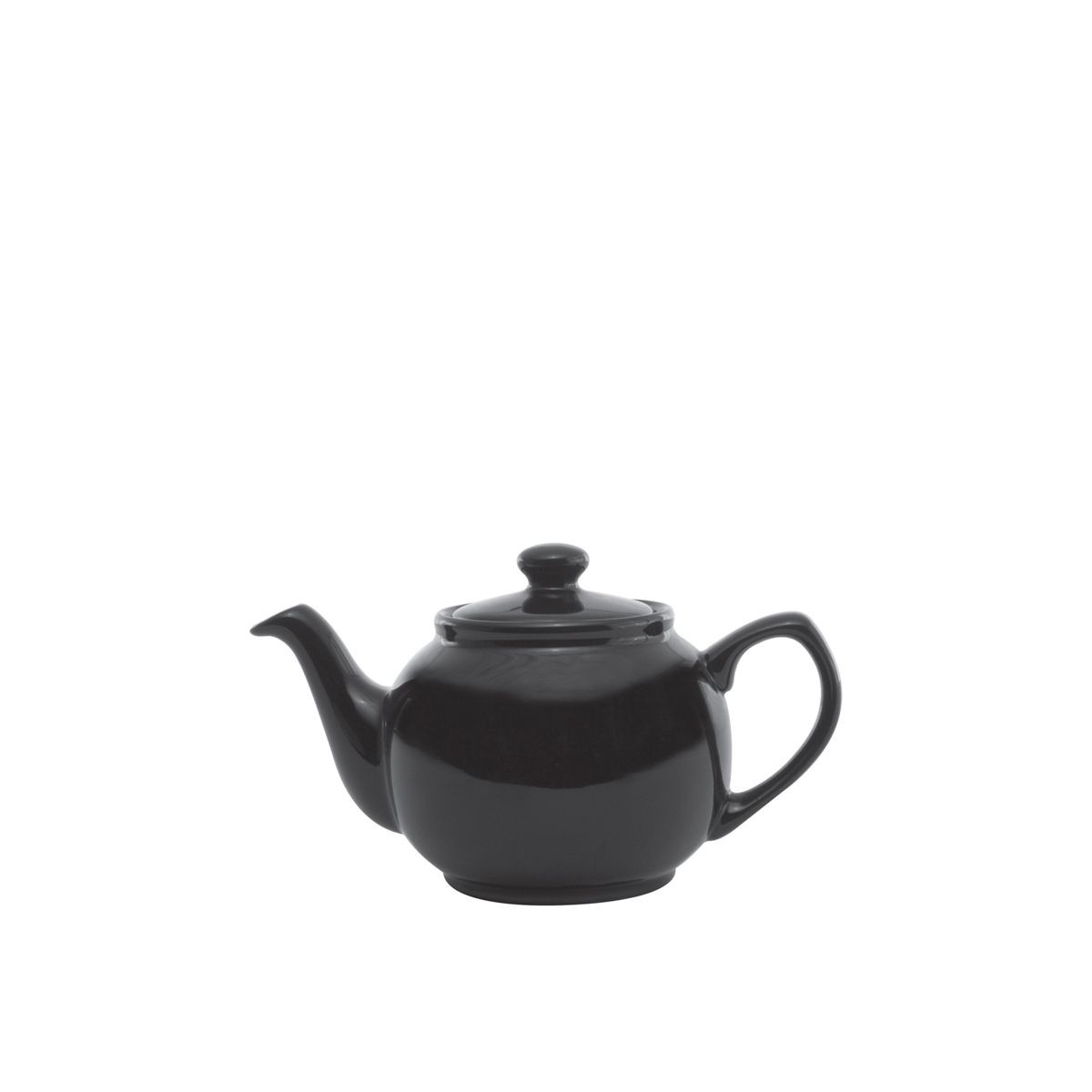 Service Ideas TPCE16BL Black Ceramic English Style Teapot 16 oz.