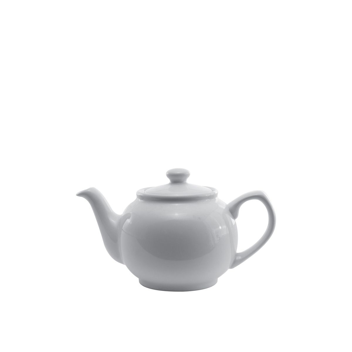 Service Ideas TPCE16WH White Ceramic English Style Teapot 16 oz.