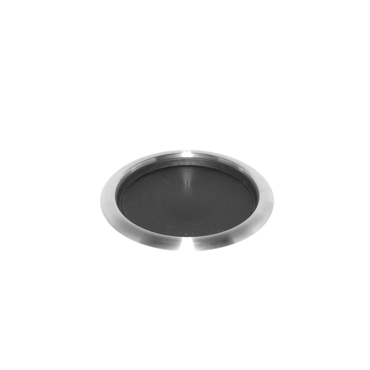 Service Ideas TR119RI Non-Slip Tray with Rubber Insert and Molded Grips, Stainless 11""