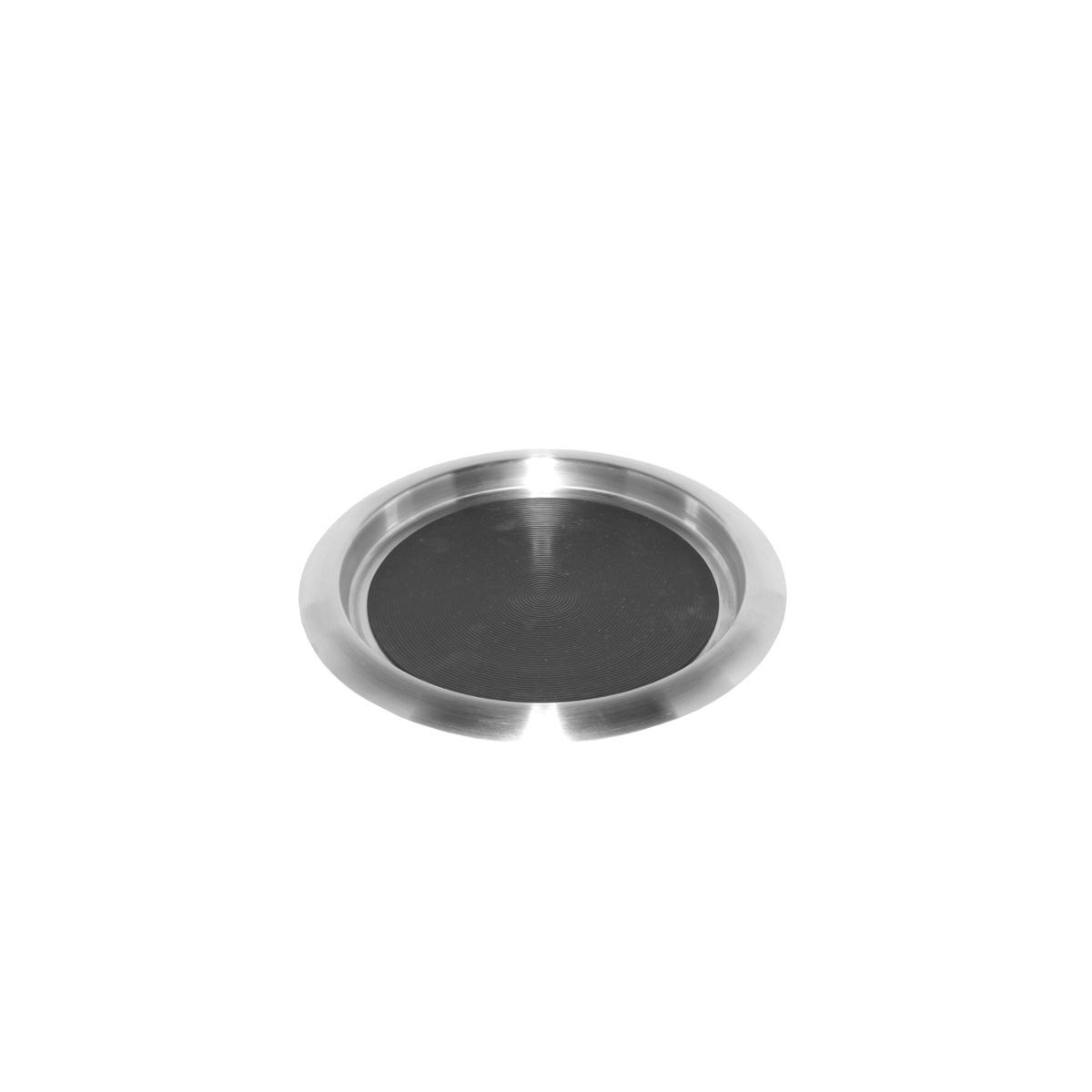 Service Ideas TR119SR Non-Slip Tray with Solid Rubber Insert, Stainless 11""