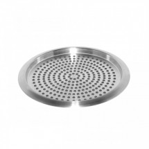 """Service Ideas TR1412 Non-Slip Stainless Steel Grip Tray, 14"""""""
