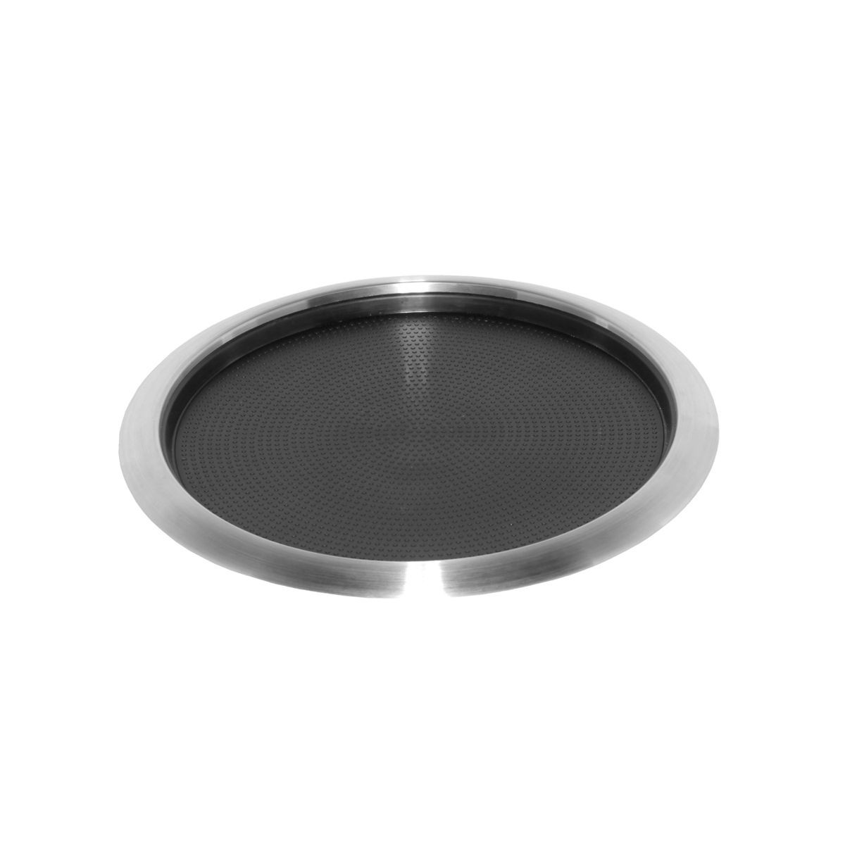 Service Ideas TR1412RI Non-Slip Tray with Removable Rubber Insert, Stainless 14""