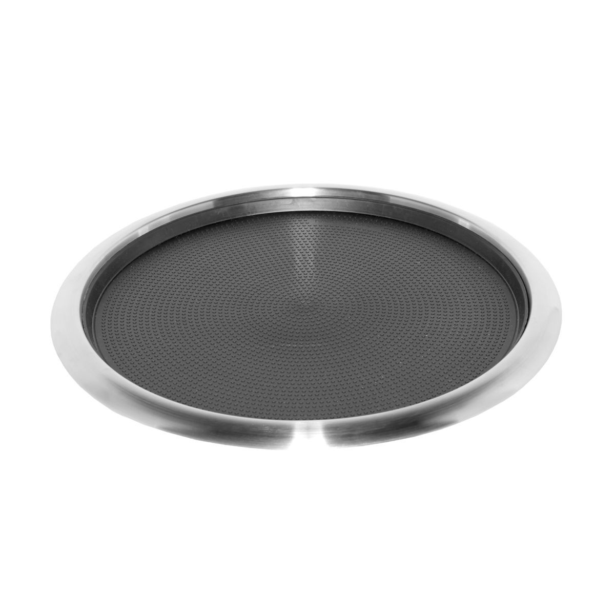 Service Ideas TR1614RI Non-Slip Tray with Removable Rubber Insert, Stainless 16""