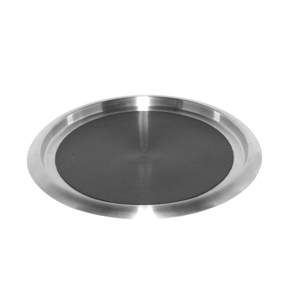 Service Ideas TR1614SR Non-Slip Tray with Rubber Insert, Stainless 16""